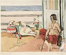 Jacques Villon Reproduction: Odalisques on the Terrace - Fine Art Print