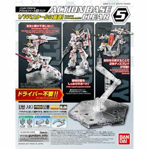 Bandai Gundam Action Base 5 Clear Gunpla 1/144 Scale Display Stand USA Seller