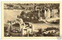 AK, Schwerin, Teilansicht mit Blick zum Schloß, 1954