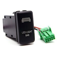 Blue LED SPST Push Switch with Connector Wire Laser LED Light Bar for Toyota