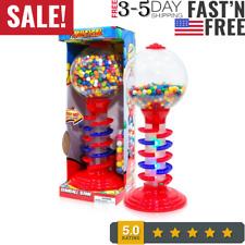 Spiral Gumball Bank Light Sound Ball Vending Machine Gift Candy Stand Gum Fun