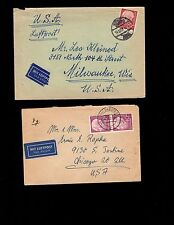 Germany Heuss Mini SEVEN COVERS Collection 1957 - 1960 Many Rate Combos 4q
