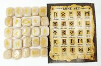 Moonstone Rune Sets Elder Futhrak Set comes with black Pouch and rune card