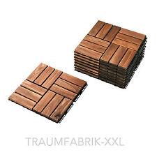IKEA 9-er Pack Holz Bodenrost Balkon Terrasse Bodenbelag Akazie Bodenfliesen NEU