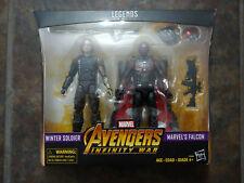 "WINTER SOLDIER & FALCON Marvel Legends 6"" Action Figure sealed MIB Best Buy"
