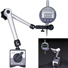 Digital Dial Indicator Holder Set Magnetic Base Accessories Machinist Stand Tool