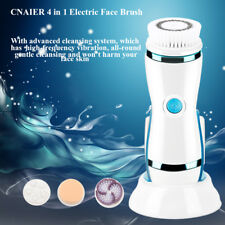 CNAIER 4 in 1 Electric Facial Cleansing Brush Skin Exfoliating Pore Cleaning GL