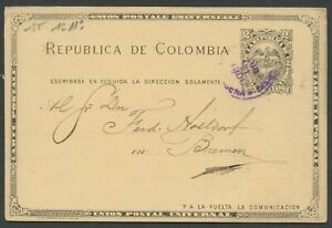 COLOMBIA HG 13b CARTAGENA AUGUST 21, 1901 TO BREMEN, GERMANY AS SHOWN