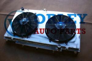 For Nissan Patrol Y61 GU 4.5L TB45E Petrol MT aluminum radiator + shroud + fans