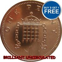 BRILLIANT UNCIRCULATED 1P ONE PENNY COINS 1982 TO 2016 CHOICE OF DATE