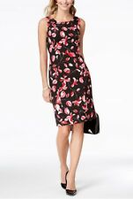 Kasper Floral-Print Sheath Dress. Size 4.