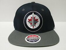 Zephyr NHL Winnipeg Jets Logo Navy 2 Tone Retro Snapback Cap