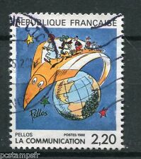 FRANCE 1988, timbre 2503, COMMUNICATION, BD PELLOS, oblitéré, COMICS, VF stamp