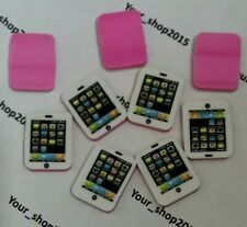 8 x White Rubber Pencil Eraser Stationery Novelty Gadgets Iphone Phone Party Bag