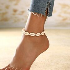 Boho Hawaiian White Natural Seashell Anklet  Fast shipping Au Seller linzy