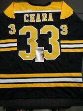 Zdeno Chara Boston Bruins Autographed Signed Black Style Jersey XL w-coa JSA-
