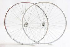 "PAIR NEW 27 x 1 1/4"" 60's,70's,80's RACING BIKE WHEELS WITH CHROME RIMS RACER"