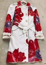 COACH LIMITED EDITION POPPY WHITE CANVAS TRENCH COAT