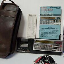Vintage Radio Shack TRS-80 Pocket Computer Programs