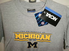 Michigan Wolverines Boys Shirt Youth NEW Gray Size XS 100% Cotton U of M Toddler