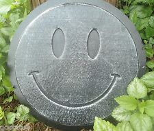 "happy face stepping stone mold abs plastic concrete plaster mould 12"" x 1.5"""
