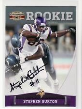 STEPHEN BURTON MINNESOTA VIKINGS WEST TEXAS A&M  UNIVERSITY AUTOGRAPHED  CARD