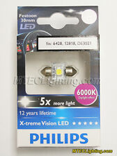 Genuine Philips 30mm 6000K 6428 12818, DE3021 LED Festoon Bulb