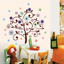 LARGE FLOWER TREE  Removable Wall sticker for Kids, Nursery & home decor