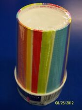 Del Sol Impressions Bright Stripe Fiesta Mexican Theme Party 9 oz. Paper Cups