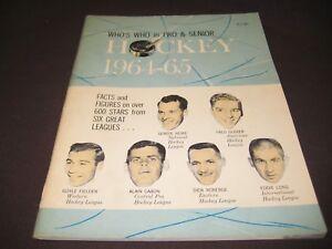 VINTAGE 1964-65 WHO'S WHO IN PRO & SENIOR HOCKEY GORDIE HOWE ON COVER REAL NICE!