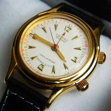 NOS GOLD plated POLJOT 2612 Signal Полет Сигнал Alarm Wrist Watch in BOX