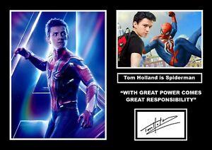 TOM HOLLAND SPIDERMAN MARVEL SIGNED PRINT