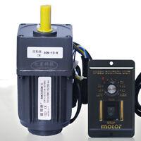Adjustable 220V Speed Motor AC Gear Motor Reversible Motor Controller 41-415rpm