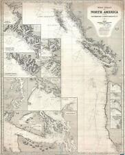 1883 Imray Nautical Map of the Pacific Northwest: Washington, Vancouver, etc.