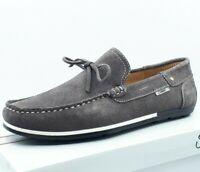 Bateau Mocassin Richelieu Chaussure Homme 40 41 42 43 44 45 - Gris Cuir Confort