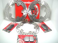 BRE8 KIT COMPLETO FRENO BREMBO DISCOS + PASTILLAS GILERA NEXUS 500 2008 2009