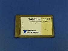 National Instruments Daqcard 6533 Pcmcia Ni Daq Card Digitial Io