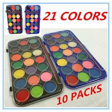Kids 21 Water Colour Paints Brush Art Craft Paint Set Watercolours non Toxic
