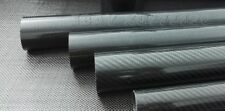 3k Carbon Fiber Tube OD 40mm x ID 34mm 36mm 37mm 38mm x 1000mm (Roll Wrapped)