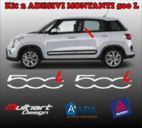 ADESIVI PORTA DOOR MONTANTI PER FIAT 500L 500 L, TUNING STICKERS PROFESSIONALI
