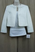 Kasper Separates Blazer Sz 14 Ivory Portrait of a Lad Business Cockail Jacket