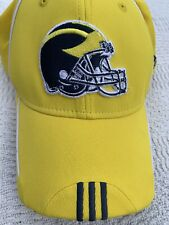 University of Michigan Adidas Yellow Fitted Hat Cap Football L/XL