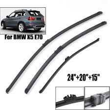 Fit For BMW X5 E70 2007-2011 Windshield Wiper Blades Set Rear Front Window