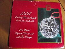 Christmas Hand cut Crystal 1997 Making Spirits Bright original bx sleeve 24% PbO