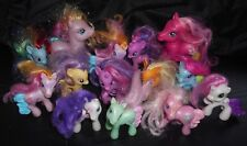 14 PIECE LOT MY LITTLE PONY PONIES PINK ORANGE BLUE WHITE YELLOW BLUE PURPLE TOY