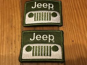 JEEP GRAND CHEROKEE WAGONEER WRANGLER LIBERTY PATRIOT COMANCHE GREEN PATCHES 2PC