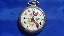 Bradley Mickey Mouse Open Face Pocket Watch