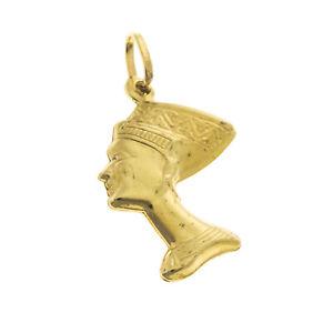 Pre owned 9ct Nefertiti  Charm/Pendant