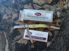 Case Knives Medium Stockman Yellow Handle 3318 CV P/N: 00035