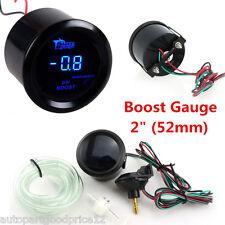 "2"" 52mm Black Cover Autos Universal Digital Blue LED PSI Turbo Boost Gauge Meter"